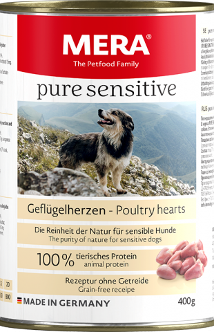 Mera_PureSensitive_Dose_400g_Gefluegelherzen web